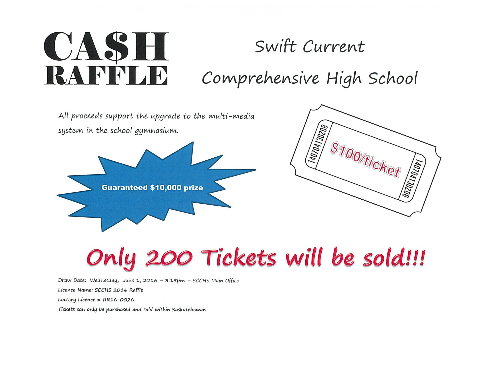 featured stories scchs fundraiser chinook school division cash raffle poster jpeg
