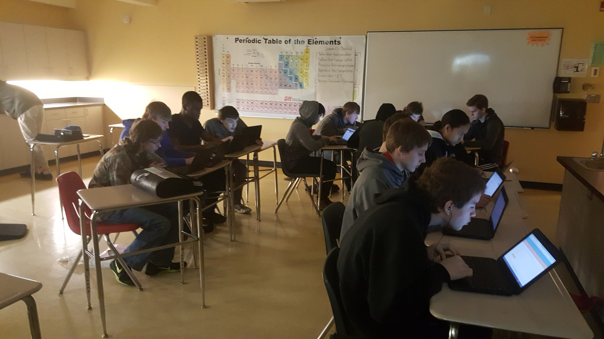 MCCS Students Engaged with Technology
