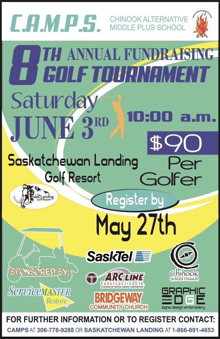 News archive chinook school division camps fundraising golf tournament aiddatafo Choice Image