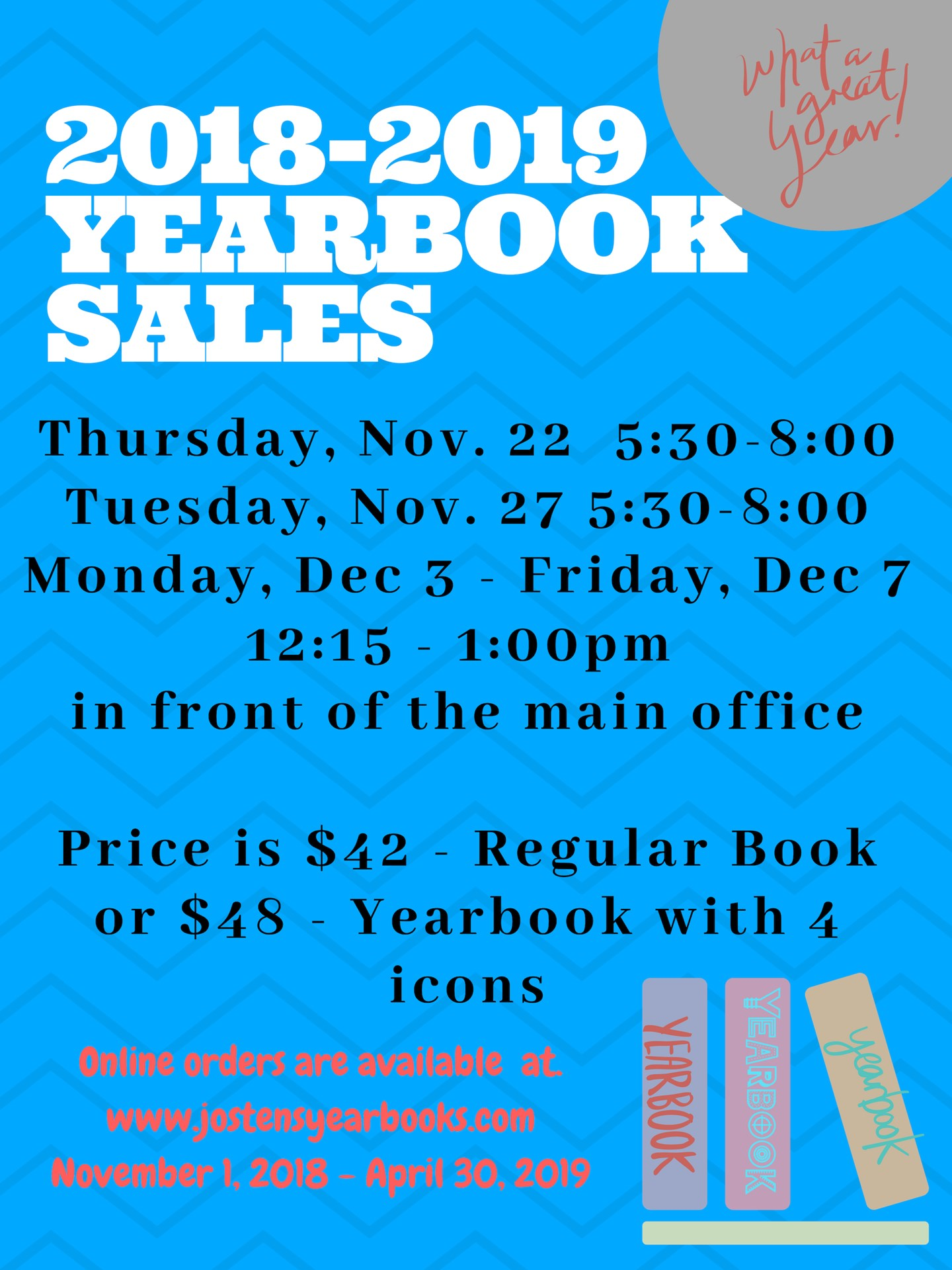 2018-2019 YEARBOOK SALES